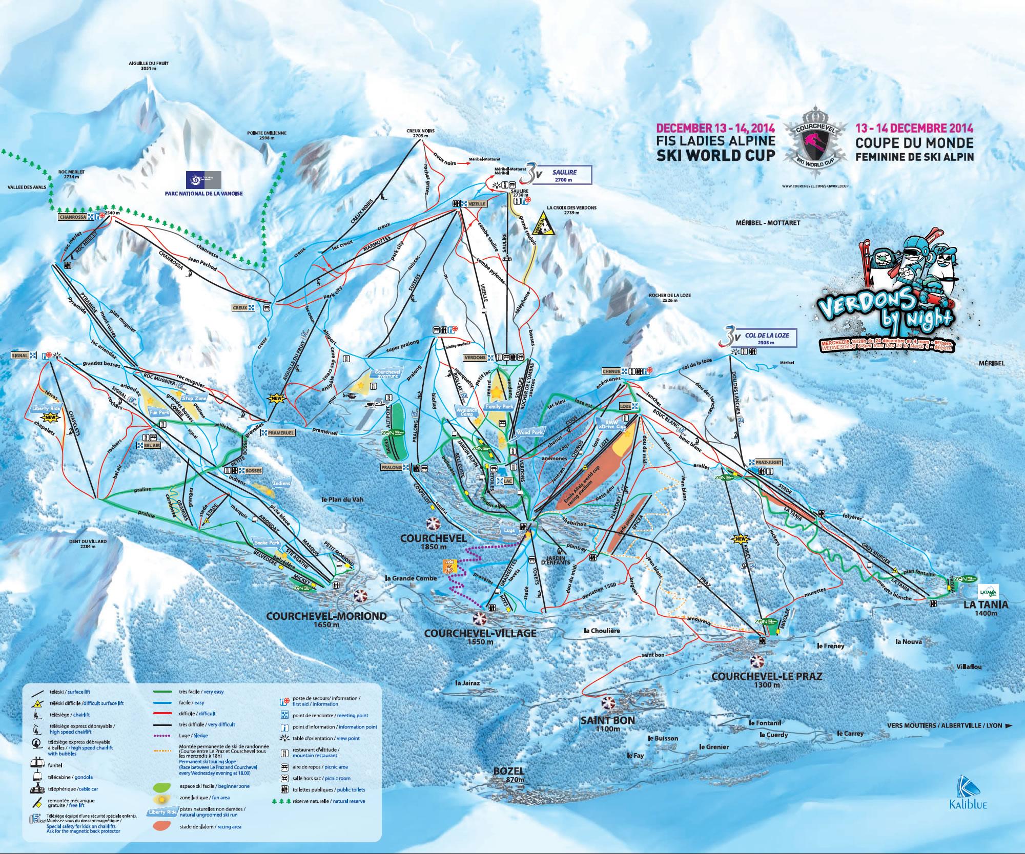 Courchevel Piste Map La Tania Piste Map Winter 2019. Courchevel Piste Map. 3 Valleys