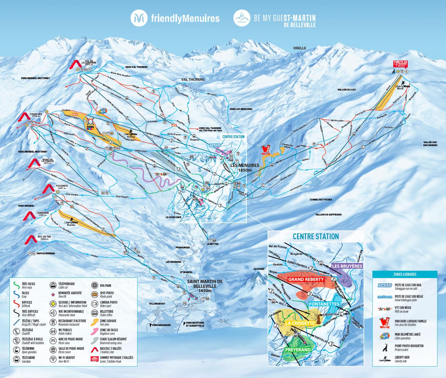 La Tania Piste Map Winter 2019  Courchevel Piste Map  3 Valleys