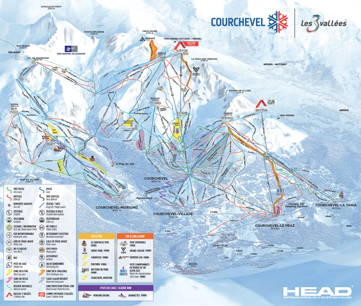 Courchevel Piste Map