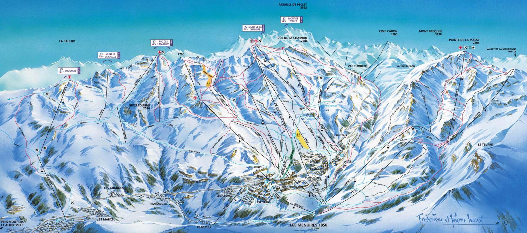La Tania Piste Map Courchevel Piste Map 2018 Three Valleys Piste Map