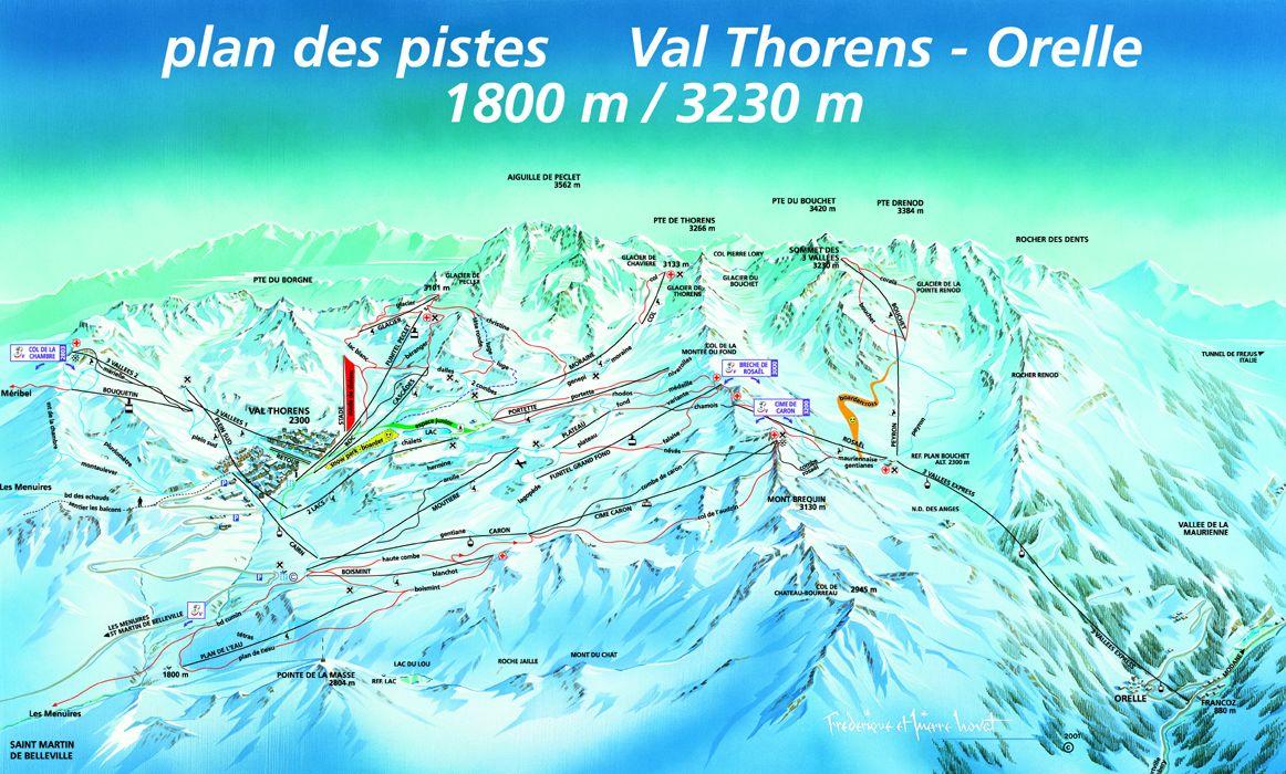 La Tania Piste Map Winter 2020 Courchevel Piste Map 3